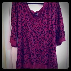 Pink Leopard 3/4 Sleeve Shirt